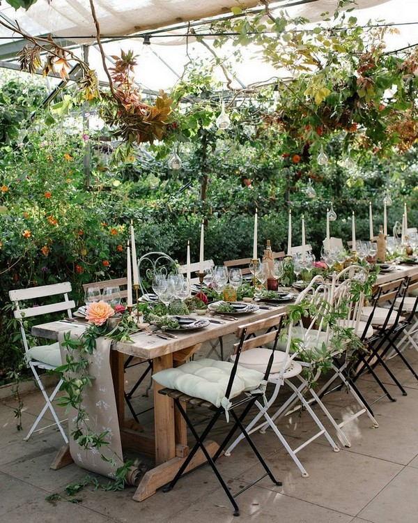 greenery wedding venue decoration ideas for reception