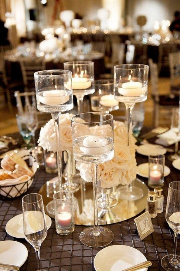 inspiring elegant wedding centerpieces with candles