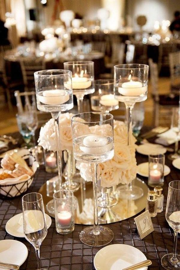 inspiring elegant wedding centerpieces with candles