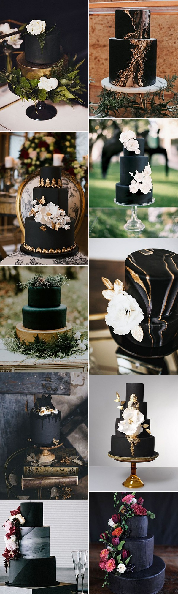 matte black wedding cakes for 2018 trends