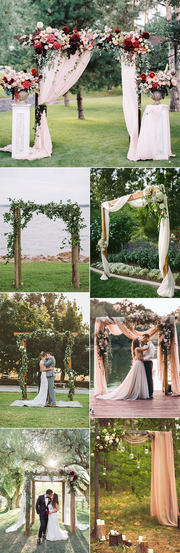 35 brilliant outdoor wedding decoration ideas for 2018 trends outdoor wedding ceremony arch decoration ideas for 2018 junglespirit Image collections