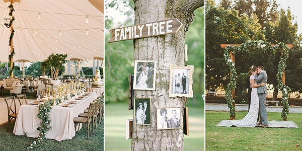 35 brilliant outdoor wedding decoration ideas for 2018 trends outdoor wedding ideas junglespirit Choice Image