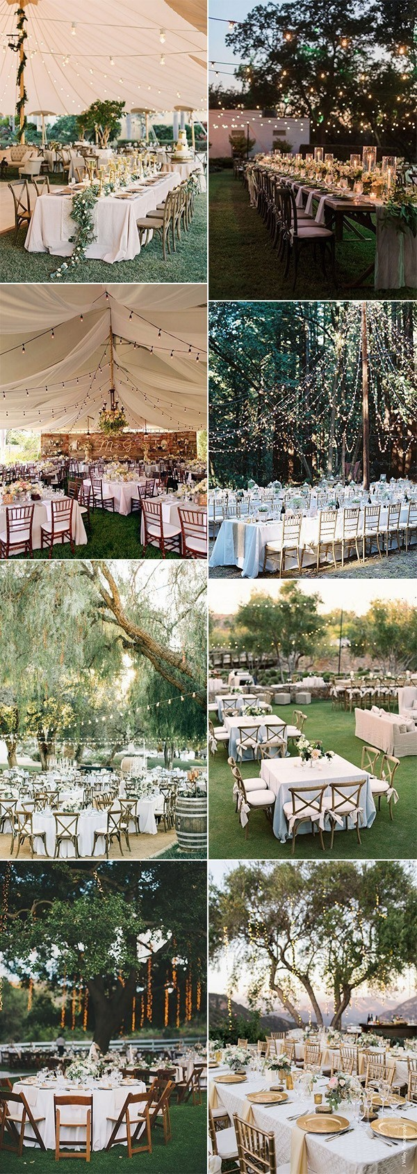 outdoor wedding reception ideas for 2018 trends