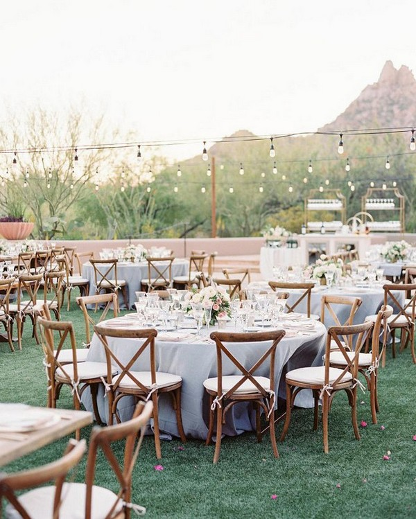 Charmant Outdoor Wedding Reception Ideas With Round Tables