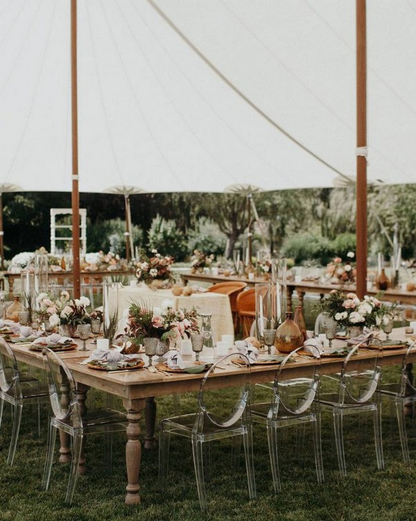 tented wedding reception venue decorations
