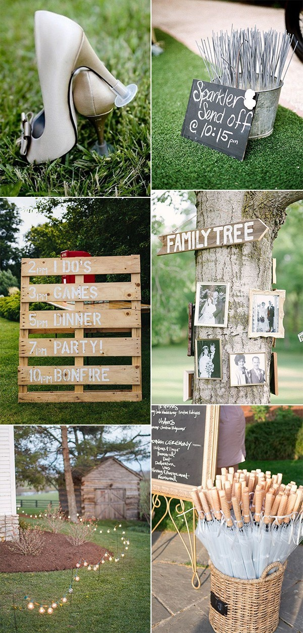 Trending Outdoor Backyard Wedding Ideas