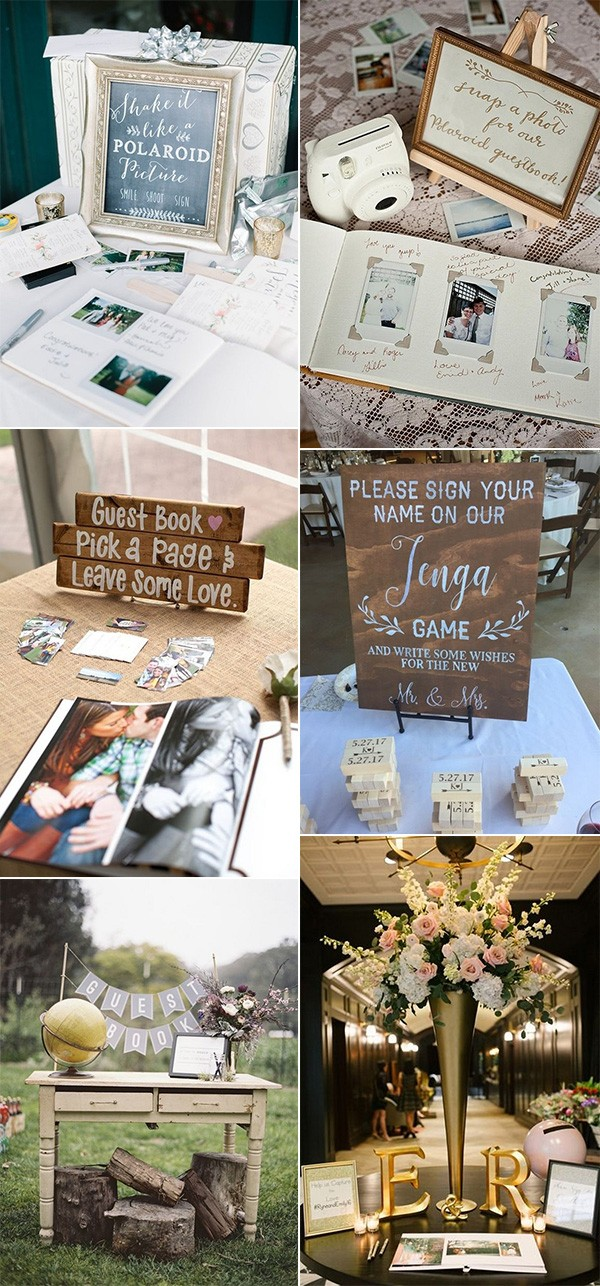 trending wedding guest book sign in table ideas