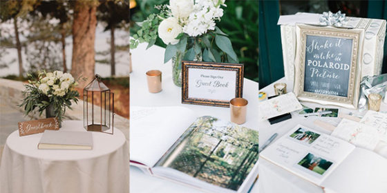 trending wedding guest book table ideas