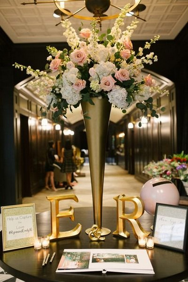15 trending wedding guest book sign-in table decoration ideas Table Decorations