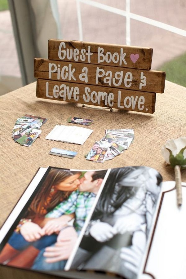 wedding guest book table sign in ideas