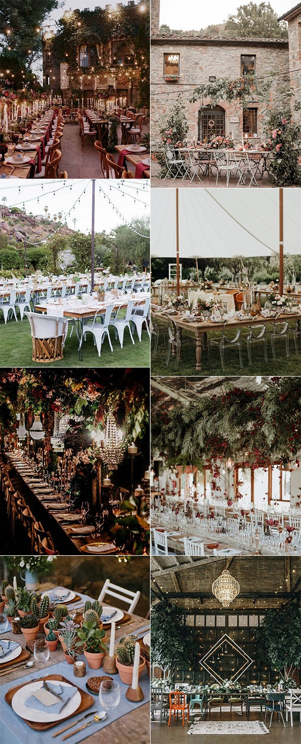 wedding reception ideas for 2018 trends