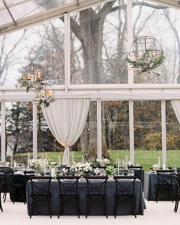 wedding reception ideas with globe lanterns