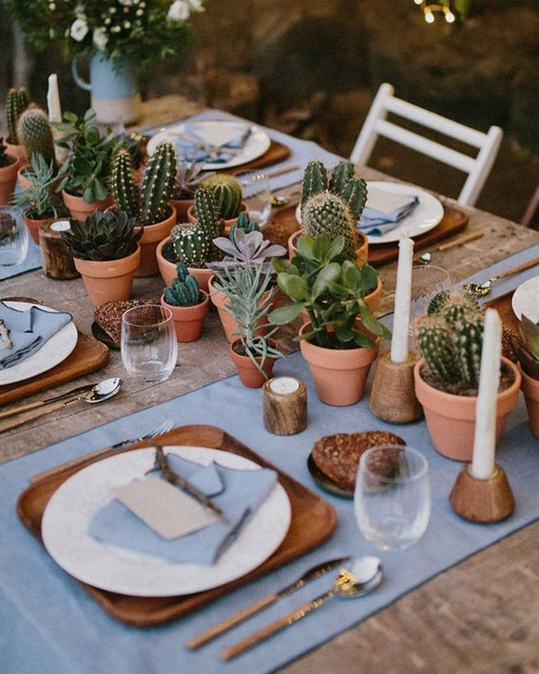 wedding reception ideas with succulents
