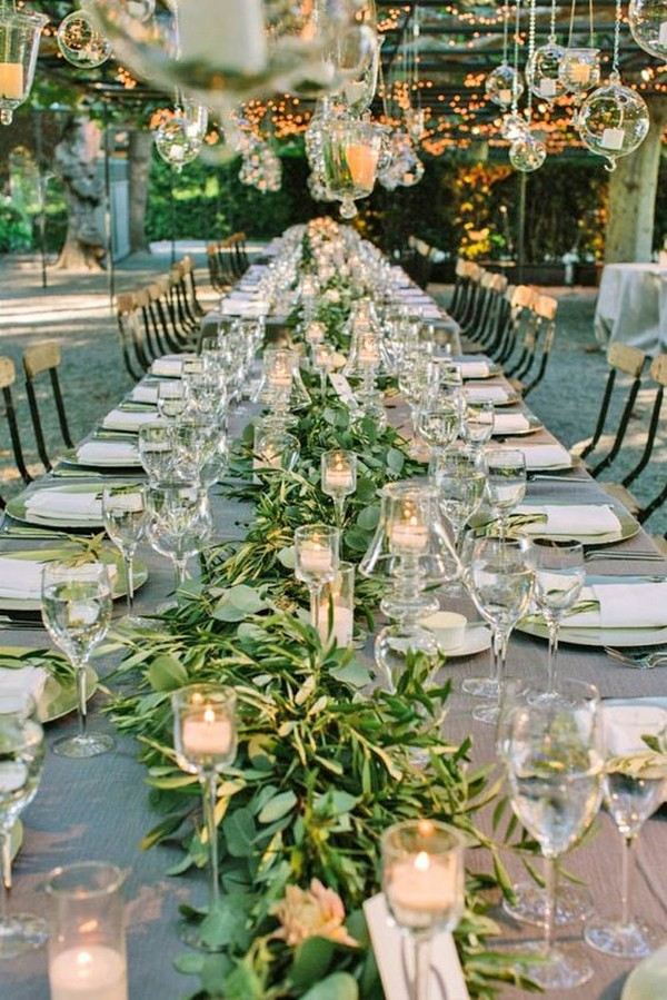 whimsical greenery wedding centerpiece ideas