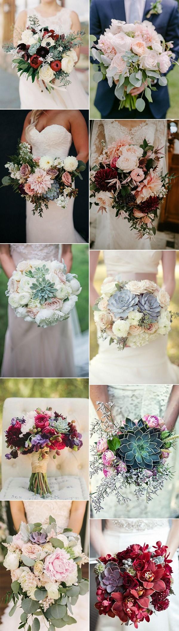 2018 trending succulents wedding bouquet ideas