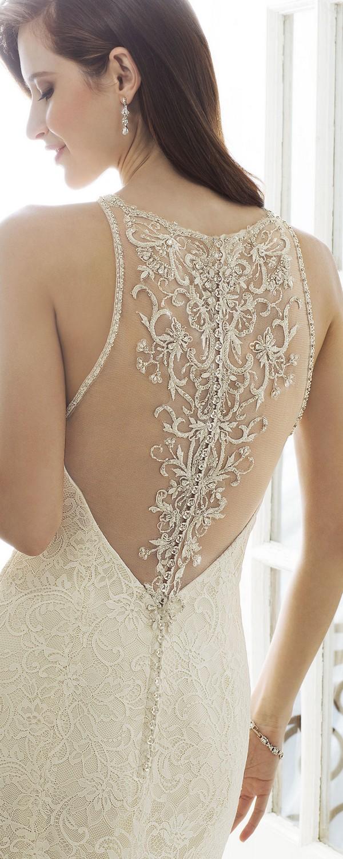 Sophia Tolli illusion halter neckline wedding dress back view