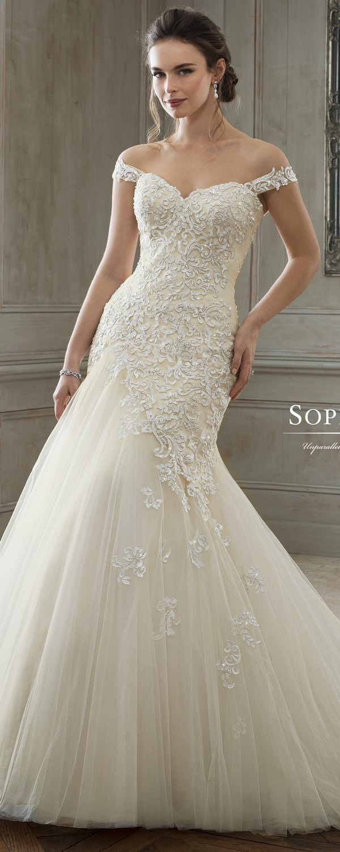 Sophia Tolli off the shoulder wedding dress 2018