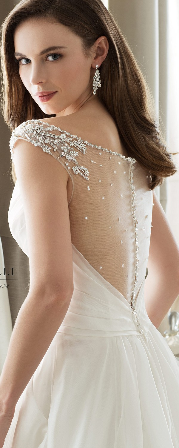 Sophia Tolli off the shoulder wedding dress back view