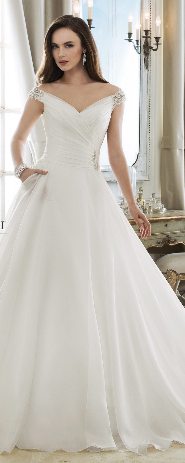 Sophia Tolli off the shoulder wedding dress