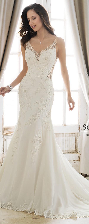 Sophia Tolli v neck wedding dress