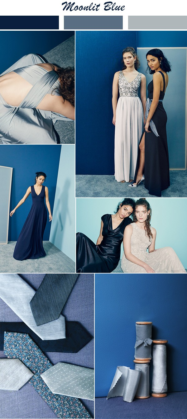 Moonlit Blue bridesmaid dress color ideas for 2018