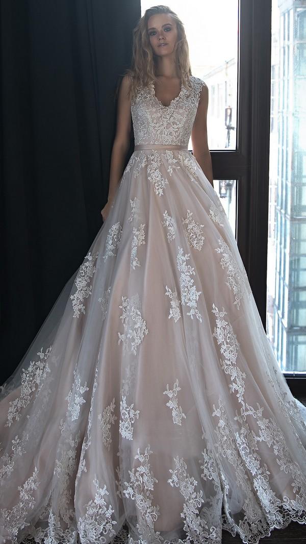 Olivia Bottega v neck lace wedding dress for 2018