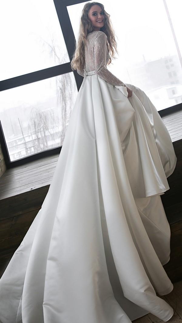 Olivia Bottega vintage wedding dress with long sleeves