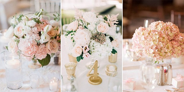 18 elegant blush wedding centerpieces for your big day blush pink wedding centerpieces junglespirit Image collections