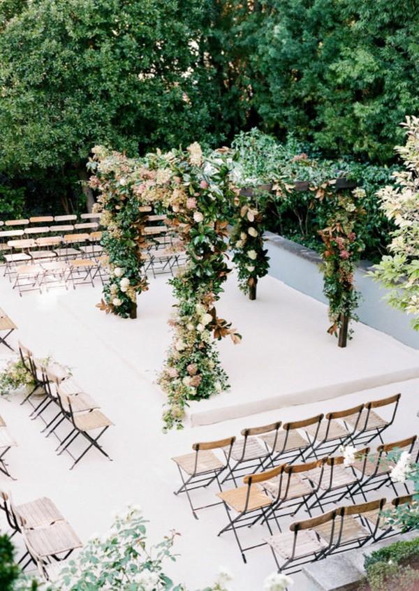 elegant square wedding ceremony arch decoration ideas