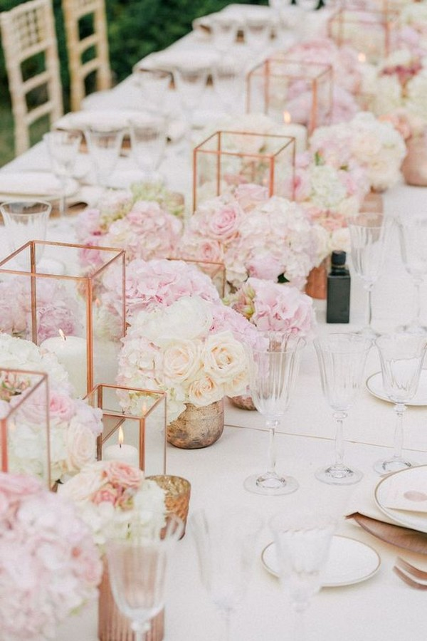 Elegant blush wedding centerpieces for your big day