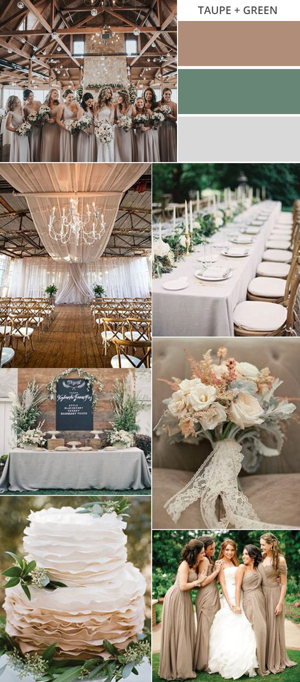 taupe and green neutral wedding colors for fall