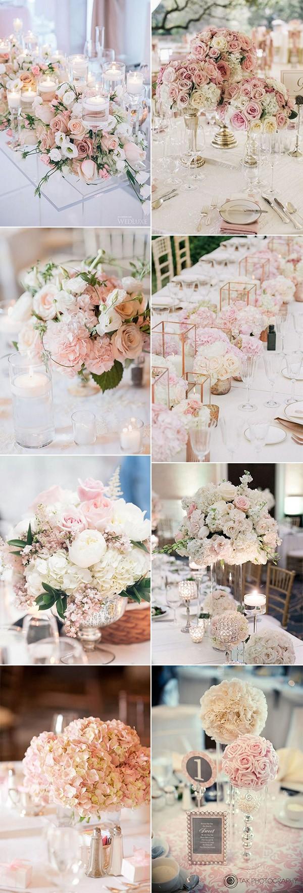 trending blush pink wedding centerpieces