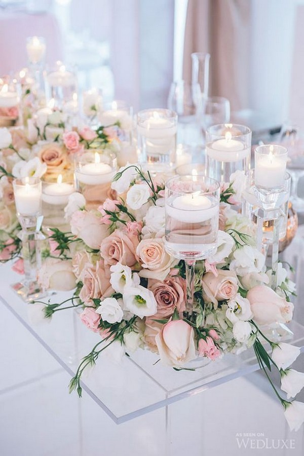18 Elegant Blush Wedding Centerpieces for Your Big Day ...