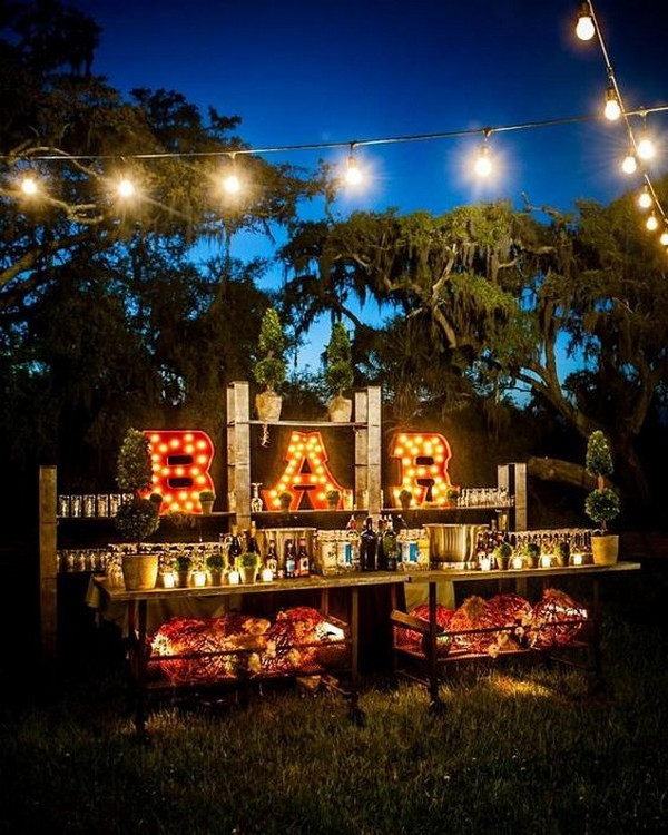Backyard Bbq Bar Wedding Reception Ideas