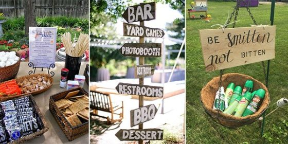 backyard bbq outdoor wedding reception ideas