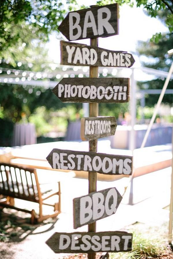 backyard wedding sign ideas