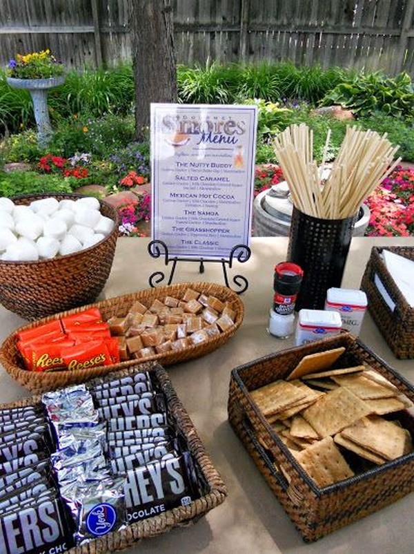 barbecue buffet wedding reception ideas