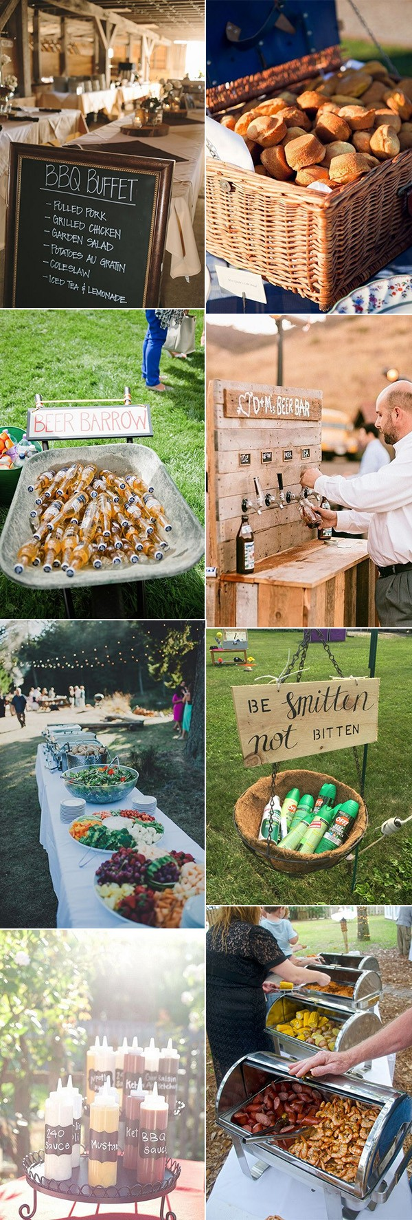 barbecue reception ideas for backyard weddings