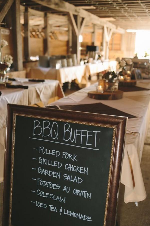 barbecue wedding reception ideas