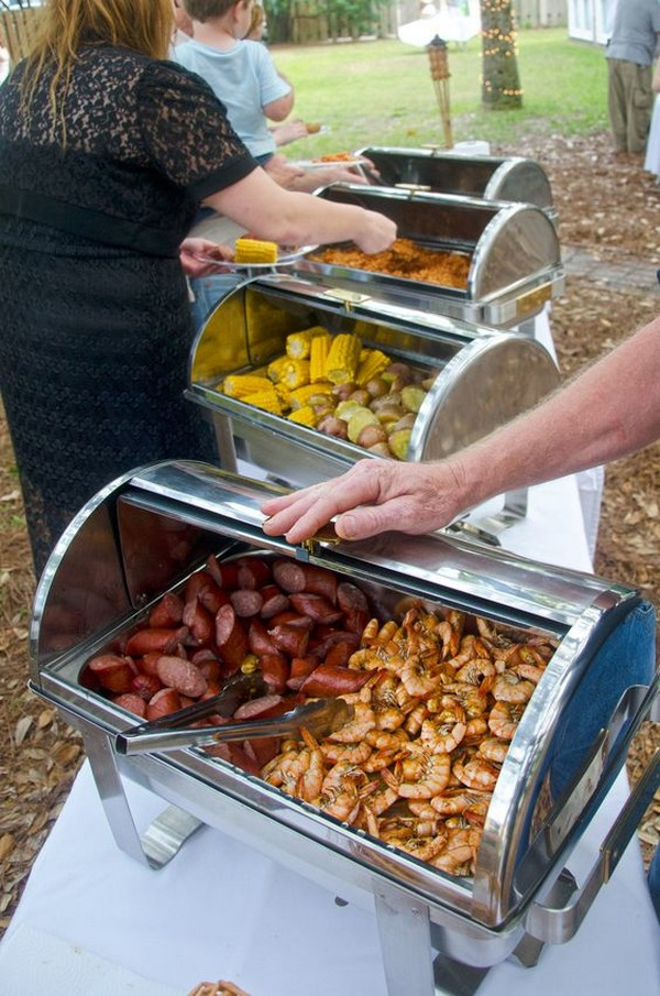 bbq buffet backyard wedding ideas