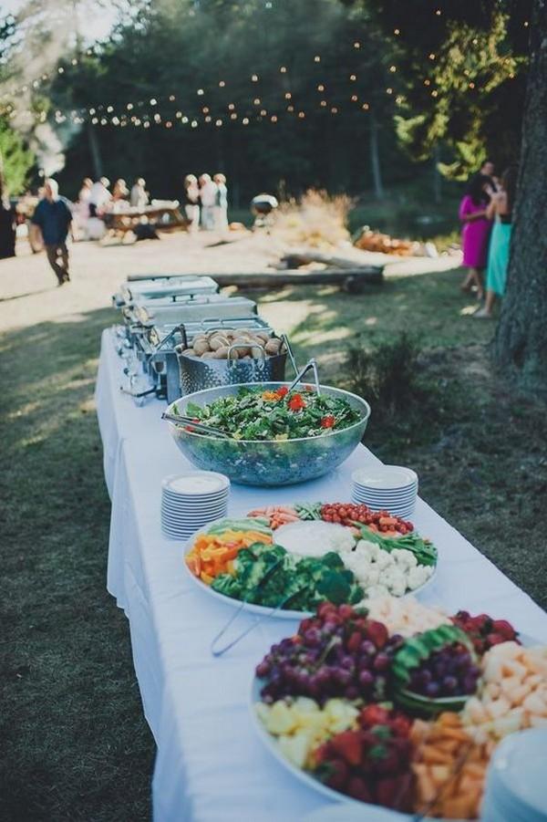 bbq buffet backyard wedding reception ideas