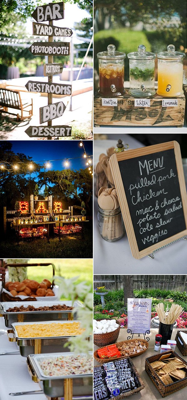 bbq wedding reception ideas for backyard weddings