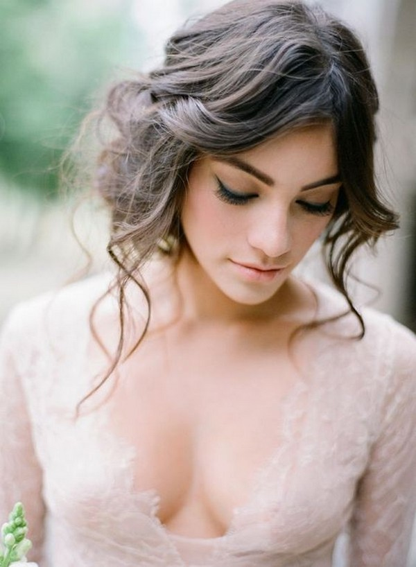 boho chic updo wedding hairstyle