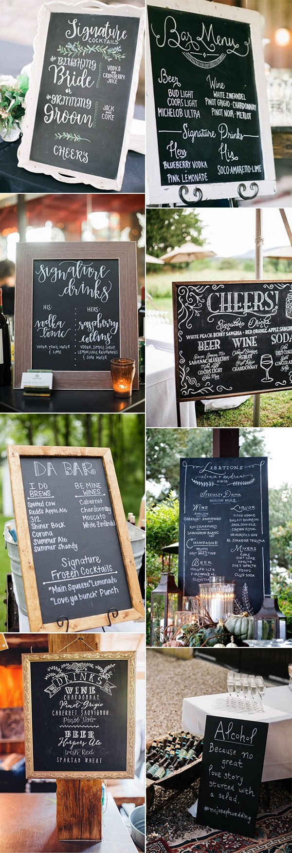 chic chalkboard wedding sign ideas