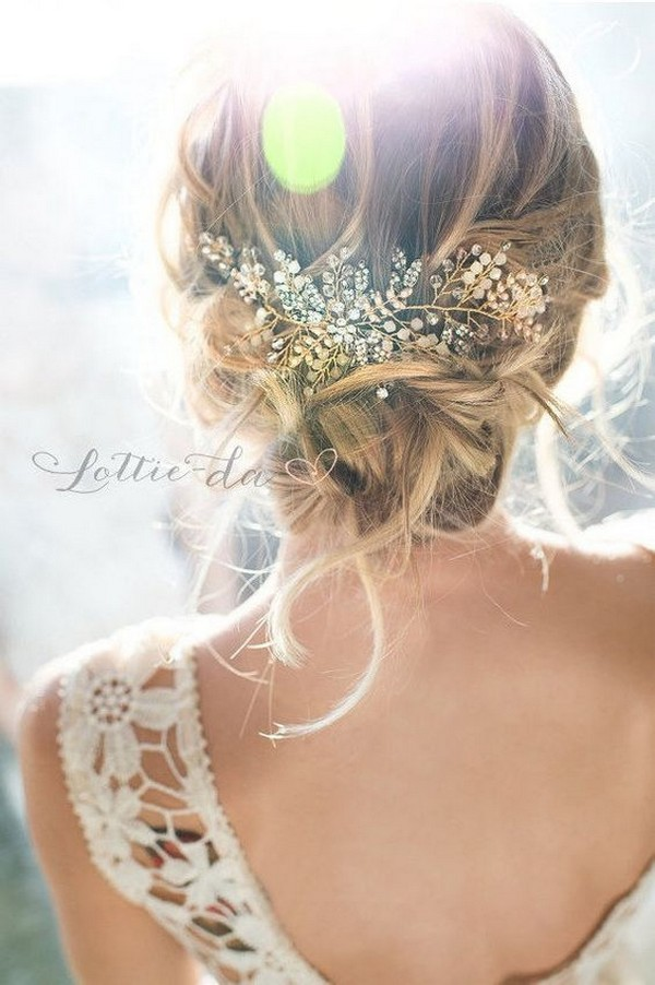 chic updo wedding hairstyle