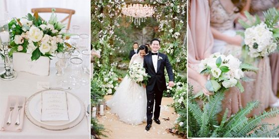 elegant green and pink wedding ideas