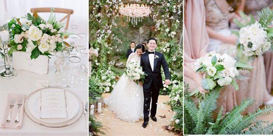 elegant green and pink wedding ideas