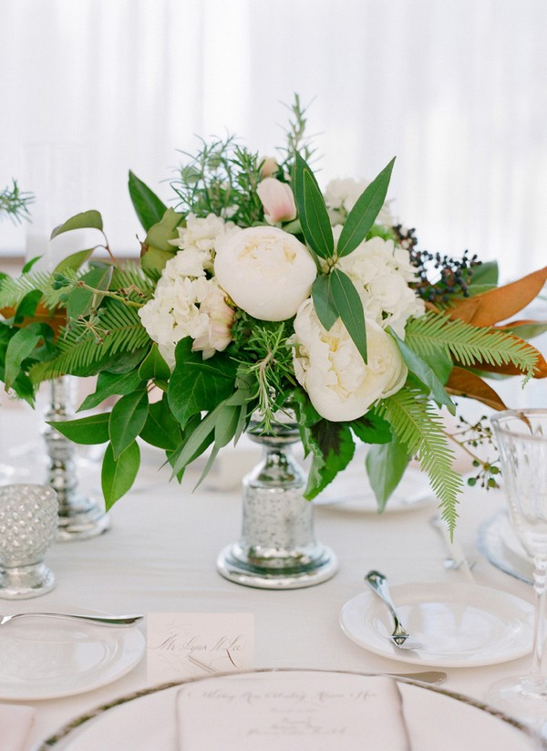 elegant greenery wedding centerpiece ideas