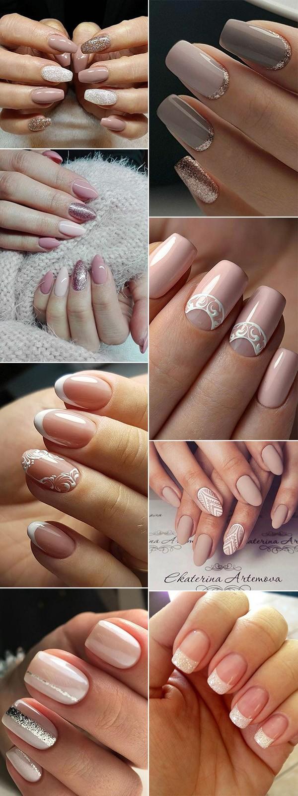 elegant wedding bridal nail ideas