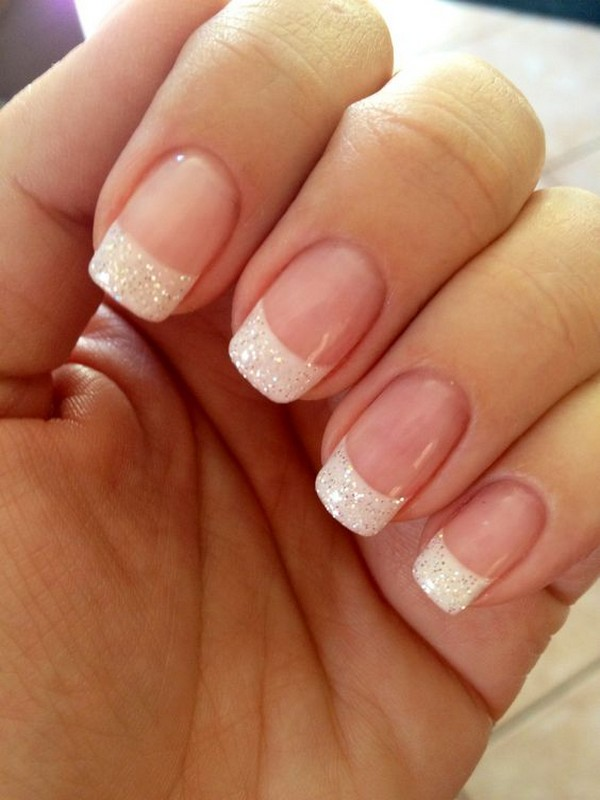 french style elegant bridal nail - EmmaLovesWeddings